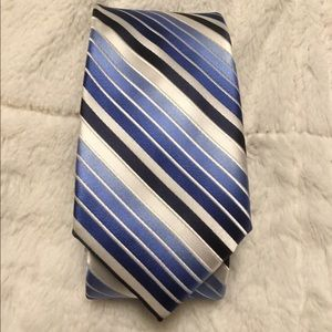 Vibrant Blue and white striped tie